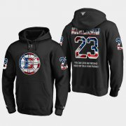 Wholesale Cheap Bruins #23 Jakob Forsbacka NHL Banner Wave Usa Flag Black Hoodie