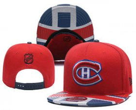 Wholesale Cheap Montreal Canadiens Snapback Ajustable Cap Hat YD 1