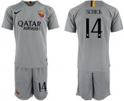 Wholesale Cheap Roma #14 Schick Away Soccer Club Jersey