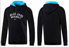 Wholesale Cheap Toronto Blue Jays Pullover Hoodie Black & Blue