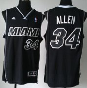 Wholesale Cheap Miami Heat #34 Ray Allen Revolution 30 Swingman All Black With White Jersey
