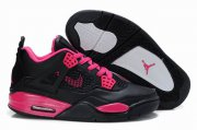 Wholesale Cheap Womens Air Jordan 4 Shoes Black/Red