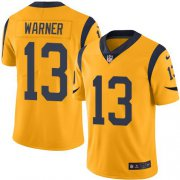 Wholesale Cheap Nike Rams #13 Kurt Warner Gold Youth Stitched NFL Limited Rush Jersey