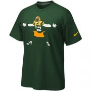 Wholesale Cheap Green Bay Packers Nike Silhouette T-Shirt Green
