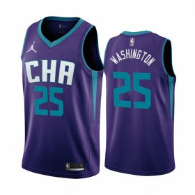 Wholesale Cheap Nike Hornets #25 PJ Washington Purple 2019-20 Statement Edition NBA Jersey