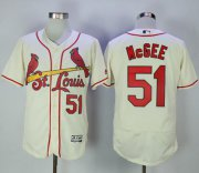 Wholesale Cheap Cardinals #51 Willie McGee Cream Flexbase Authentic Collection Stitched MLB Jersey