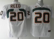 Wholesale Cheap Miami Hurricanes #20 Reed White Jersey