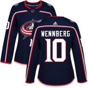 Wholesale Cheap Adidas Blue Jackets #10 Alexander Wennberg Navy Blue Home Authentic Women's Stitched NHL Jersey