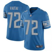 Wholesale Cheap Nike Lions #72 Halapoulivaati Vaitai Blue Team Color Youth Stitched NFL Vapor Untouchable Limited Jersey