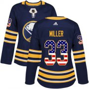 Wholesale Cheap Adidas Sabres #33 Colin Miller Navy Blue Home Authentic USA Flag Women's Stitched NHL Jersey