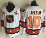 Wholesale Cheap Canadiens #10 Guy Lafleur White/Orange All-Star CCM Throwback Stitched NHL Jersey