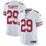 Wholesale Cheap Nike 49ers #29 Jaquiski Tartt White Men's Stitched NFL Vapor Untouchable Limited Jersey