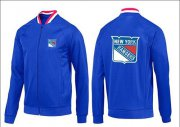 Wholesale Cheap NHL New York Rangers Zip Jackets Blue-1