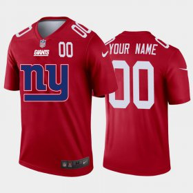Wholesale Cheap New York Giants Custom Red Men\'s Nike Big Team Logo Player Vapor Limited NFL Jersey