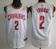Wholesale Cheap Cleveland Cavaliers #2 Kyrie Irving White Swingman Jersey