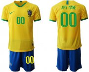 Wholesale Cheap Brazil Personalized Home Soccer Country Jersey