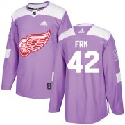 Wholesale Cheap Adidas Red Wings #42 Martin Frk Purple Authentic Fights Cancer Stitched NHL Jersey