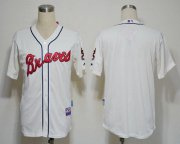Wholesale Cheap Braves Blank Cream Cool Base Stitched MLB Jersey