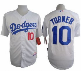 Wholesale Cheap Dodgers #10 Justin Turner White Cool Base Stitched MLB Jersey