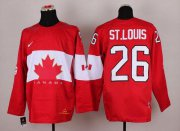 Wholesale Cheap Olympic 2014 CA. #26 Martin St. Louis Red Stitched NHL Jersey