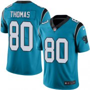 Wholesale Cheap Nike Panthers #80 Ian Thomas Blue Men's Stitched NFL Limited Rush Jersey