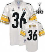 Wholesale Cheap Steelers #36 Jerome Bettis White Super Bowl XLV Stitched NFL Jersey