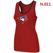 Wholesale Cheap Women's Nike Toronto Blue Jays Big Logo Tri-Blend Racerback Stretch Tank Top Red