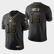 Wholesale Cheap Carolina Panthers #15 Chris Hogan Vapor Limited Black Golden Jersey