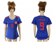 Wholesale Cheap Women's Colombia #9 Falcao Away Soccer Country Jersey