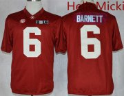Wholesale Cheap Men's Alabama Crimson Tide #6 Blake Barnett Red 2016 BCS College Football Nike Limited Jersey