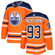 Wholesale Cheap Adidas Oilers #93 Ryan Nugent-Hopkins Orange Home Authentic Stitched Youth NHL Jersey