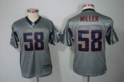 Wholesale Cheap Nike Broncos #58 Von Miller Grey Shadow Youth Stitched NFL Elite Jersey