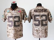 Wholesale Cheap Nike Packers #52 Clay Matthews Camo Men's Stitched NFL New Elite USMC Jersey