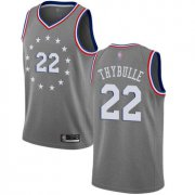 Wholesale Cheap 76ers #22 Mattise Thybulle Gray Basketball Swingman City Edition 2018-19 Jersey