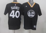 Wholesale Cheap Golden State Warriors #40 Harrison Barnes Revolution 30 Swingman 2014 New Black Short-Sleeved Jersey