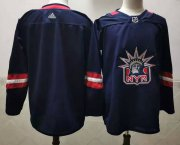 Wholesale Cheap Men's New York Rangers Blank Navy Blue Adidas 2020-21 Stitched NHL Jersey
