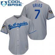 Wholesale Cheap Dodgers #7 Julio Urias Grey Cool Base 2018 World Series Stitched Youth MLB Jersey