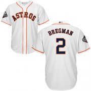 Wholesale Cheap Astros #2 Alex Bregman White Cool Base 2019 World Series Bound Stitched Youth MLB Jersey