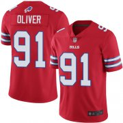 Wholesale Cheap Nike Bills #91 Ed Oliver Red Men's Stitched NFL Limited Rush Jersey