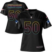 Wholesale Cheap Nike Patriots #50 Chase Winovich Black Women's NFL Fashion Game Jersey