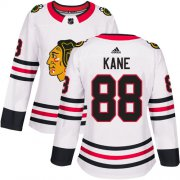 Wholesale Cheap Adidas Blackhawks #88 Patrick Kane White Road Authentic Women's Stitched NHL Jersey