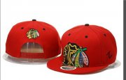 Wholesale Cheap NHL Chicago Blackhawks Big Logo All Red Adjustable Hat A89