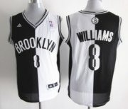 Wholesale Cheap Brooklyn Nets #8 Deron Williams Revolution 30 Swingman Black/White Two Tone Jersey