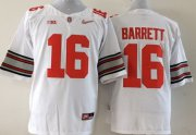Wholesale Cheap Ohio State Buckeyes #16 J.T. Barrett 2015 Playoff Rose Bowl Special Event Diamond Quest White Jersey