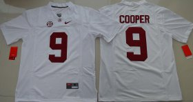 Wholesale Cheap Men\'s Alabama Crimson Tide #9 Amari Cooper White Limited Stitched College Football Nike NCAA Jersey