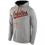 Wholesale Cheap Baltimore Orioles Nike Cooperstown Performance Pullover Gray MLB Hoodie