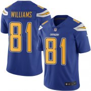 Wholesale Cheap Nike Chargers #81 Mike Williams Electric Blue Men's Stitched NFL Limited Rush Jersey