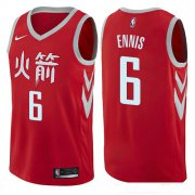 Wholesale Cheap Houston Rockets #6 Tyler Ennis Red Nike NBA Men's Stitched Swingman Jersey City Edition