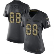 Wholesale Cheap Nike Panthers #88 Greg Olsen Black Women's Stitched NFL Limited 2016 Salute to Service Jersey