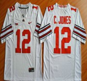 Wholesale Cheap Ohio State Buckeyes #12 Cardale Jones White 2015 College Football Nike Limited Jersey